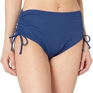 ** 24th & Ocean Core Solids Mid Bikini Bottom NWT